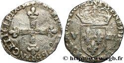 HENRY III Huitième décu, croix de face 1580 Rennes VF