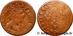 LOUIS XIII  Double tournois, type 14 1640 Bordeaux