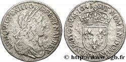 LOUIS XIII LE JUSTE Quart décu dargent, 3e type, 2e poinçon de Warin 1643 Paris, Monnaie du Louvre