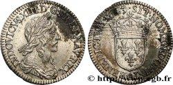 LOUIS XIII LE JUSTE Douzième décu, 3e type, 2e poinçon de Warin 1643 Paris, Monnaie du Louvre