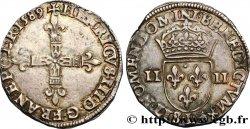 HENRY III Quart décu, croix de face 1589 Bayonne