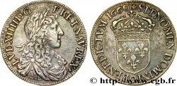 LOUIS XIV LE GRAND OU LE ROI SOLEIL Demi-écu au buste juvénile, 1er type 1660 Rennes