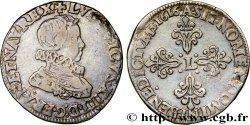 LOUIS XIII LE JUSTE Demi-franc, tête nue enfantine au col fraisé 1616 Paris