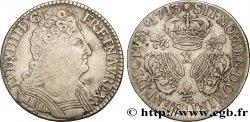 LOUIS XIV THE SUN KING Demi-écu aux trois couronnes 1713 Amiens