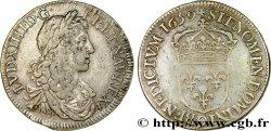 LOUIS XIV THE SUN KING Demi-écu au buste juvénile, 1er type 1659 Rennes MBC