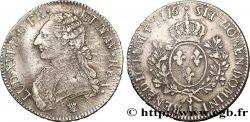 LOUIS XVI Écu dit aux branches dolivier 1776 Limoges BC+