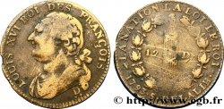 LOUIS XVI 12 deniers dit au faisceau, type FRANÇOIS 1793 Riorges F
