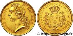 LOUIS XV DIT LE BIEN AIMÉ Pièce de plaisir ou médaille au type de l'écu dit au bandeau en or 1740 Paris