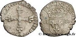 HENRY III Quart décu, croix de face 1583 Bayonne VF