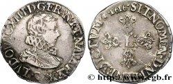 LOUIS XIII LE JUSTE Demi-franc à la tête nue adolescente de Saint-Lô 1616 Saint-Lô