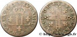 LOUIS XIV THE SUN KING XXX deniers aux 2 L couronnées 1713 Metz