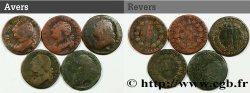 LOTS Lot de cinq pièces de 12 deniers dit au faisceau, type FRANCOIS et FRANCAIS n.d. s.l.