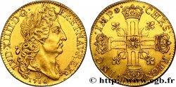 LOUIS XIV LE GRAND OU LE ROI SOLEIL Double louis dor au soleil 1710 Lyon