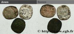 LOTS Lot de 3 monnaies royales n.d. s.l. B+