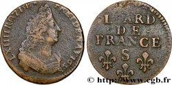 LOUIS XIV THE SUN KING Liard, 3e type 1698 Reims
