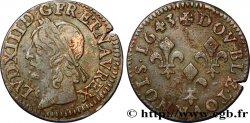 LOUIS XIII Double tournois, type de Warin 1643