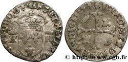 HENRY IV Douzain aux deux H couronnées, 9ème type 1593 Clermont-Ferrand VF/VF