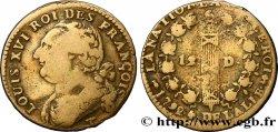 LOUIS XVI 12 deniers dit au faisceau, type FRANÇOIS 1792 Nantes