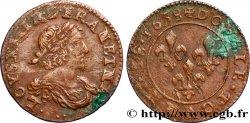 LOUIS XIII LE JUSTE Double tournois au grand buste viril drapé 1638 Vallée du Rhône
