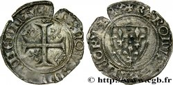 BURGONDY - COINAGE AT THE NAME OF CHARLES VI THE MAD OR THE WELL-BELOVED Blanc dit guénar n.d. Châlons-en-Champagne S