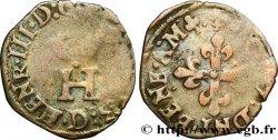 HENRI III Liard à lH couronnée 1583 Lyon