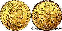 LOUIS XIV LE GRAND OU LE ROI SOLEIL Double louis dor au soleil 1711 Bayonne