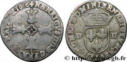 HENRY IV Quart décu, croix feuillue de face 1606 Bayonne