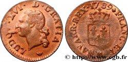 LOUIS XVI Liard dit à lécu 1789 Toulouse q.SPL
