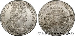 LOUIS XIV LE GRAND OU LE ROI SOLEIL Écu aux trois couronnes de Béarn 1710 Pau