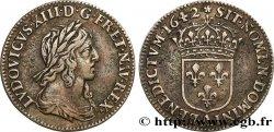 LOUIS XIII Douzième décu, 3e type 1642 Paris, Monnaie de Matignon SS
