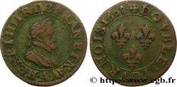 HENRY IV Double tournois, 2e type de Paris (légende française) 1608 Paris fSS