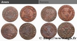 LOUIS XIII  Double tournois, lot de 4 ex. n.d. Ateliers divers