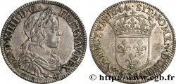 LOUIS XIV  THE SUN KING  Quart d'écu à la mèche courte 1644 Paris, Monnaie de Matignon
