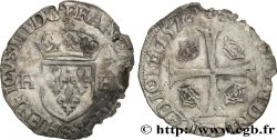 HENRY III Douzain aux deux H, 1er type 1576 Troyes