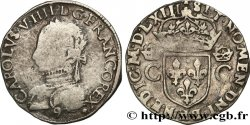 HENRY III. COINAGE AT THE NAME OF CHARLES IX Teston, 2e type 1563 Rennes