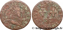 LOUIS XIII  Double tournois, type 1 1634 Tours