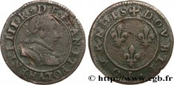 THE LEAGUE. COINAGE IN THE NAME OF HENRY III Double tournois n.d. Paris, Moulin des Étuves