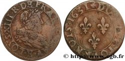 LOUIS XIII  Double tournois, type 1 de Tours 1631 Tours