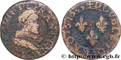 LOUIS XIII  Double tournois, type 1 de Tours 1633 Tours