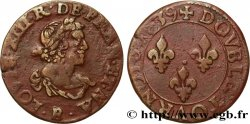 LOUIS XIII  Double tournois, 19e type 1639 Tours