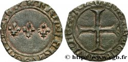 CHARLES VII LE BIEN SERVI / THE WELL-SERVED Double tournois n.d. Troyes