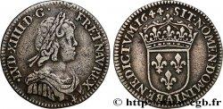 LOUIS XIV LE GRAND OU LE ROI SOLEIL Douzième décu à la mèche courte 1644 Paris, Monnaie du Louvre