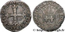 HENRI III Quart décu, croix de face 1586 Nantes