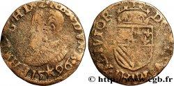 PAYS-BAS ESPAGNOLS - COMTÉ DARTOIS - PHILIPPE II DESPAGNE Maille 1596 Maastricht MB