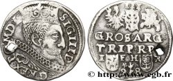 POLAND - SIGISMOND III VASA Trois groschen ou trojak koronny 1598 Cracovie VF