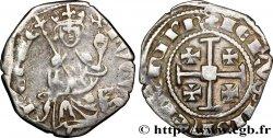 KINGDOM OF CYPRUS - HUGUES IV OF LUSIGNAN Demi-gros n.d.  BC+