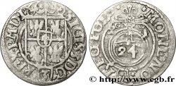 POLAND - SIGISMOND III VASA Vingt-quatrième de thaler ou poltorak koronny ou trois polker 1621 Cracovie