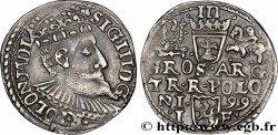 POLAND - SIGISMOND III VASA Trois groschen ou trojak koronny 1599 Cracovie