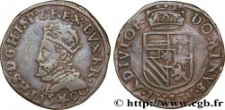 SPANISH LOW COUNTRIES - DUCHY OF BRABANT - PHILIPPE II Liard 1590 Maastricht