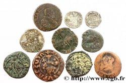 LOTS Dix monnaies royales étrangères, états et métaux divers n.d.